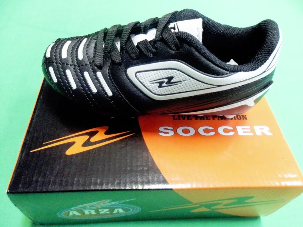arza soccer cleats color black and white ebay
