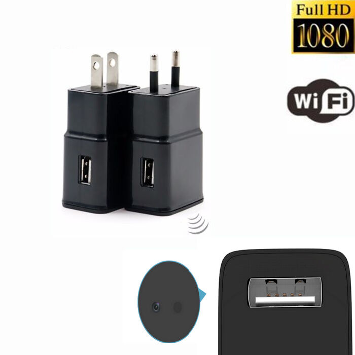 Cell Phone Charger Hidden Camera Mini 1080p Wifi Hd Spy