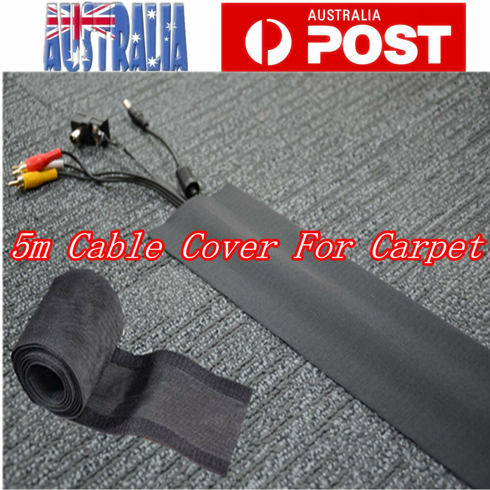 cable cover for carpet 100mm width x 5m length black au stock ebay. Black Bedroom Furniture Sets. Home Design Ideas