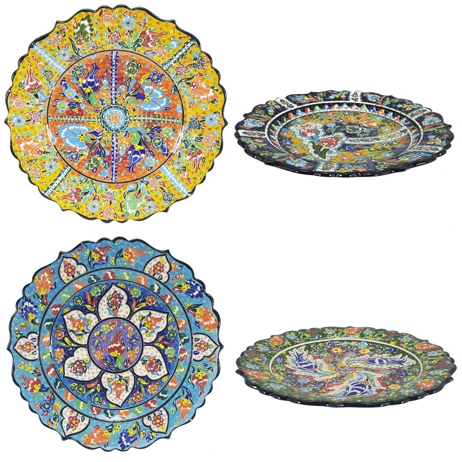 Turkish Moroccan Design Handmade Ceramic Plates 11 8