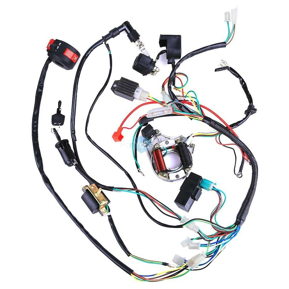 152fmh atv 110 wiring harness 50 70 90    110    125cc mini    atv    complete    wiring       harness    cdi  50 70 90    110    125cc mini    atv    complete    wiring       harness    cdi