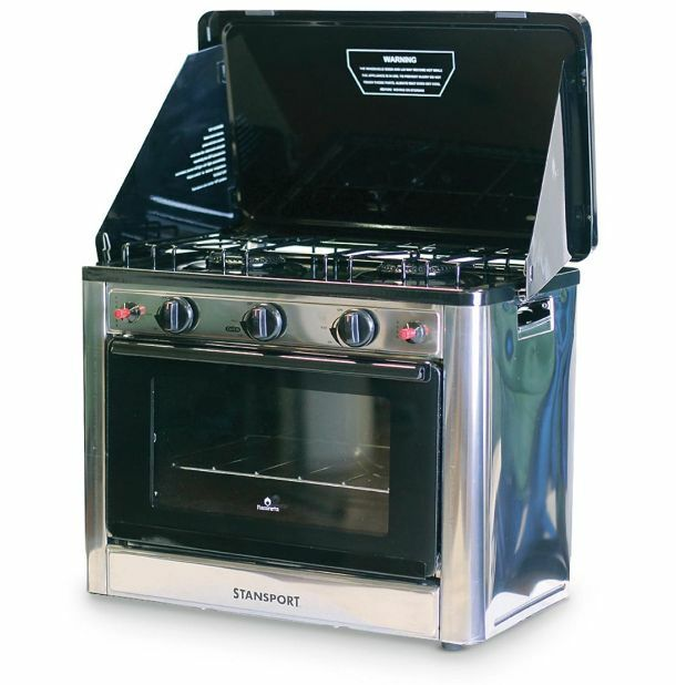 Outdoor Propane Gas Stove And Camp Oven Stainless Steel