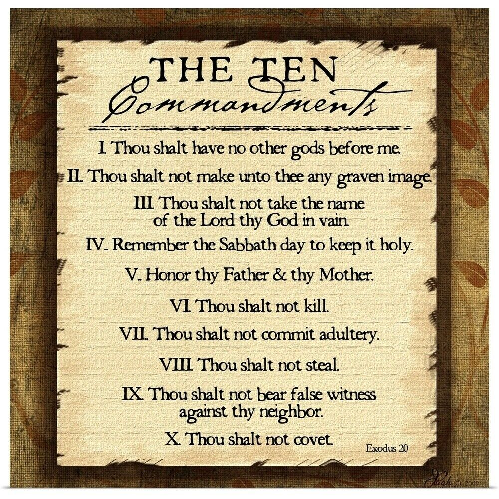 This is a graphic of Witty The Ten Commandments Printable