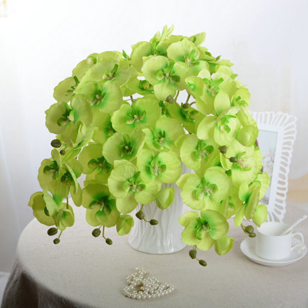 Artificial Butterfly Orchid Silk Flower Home Wedding Decor Phalaenopsis Bouquet Ebay