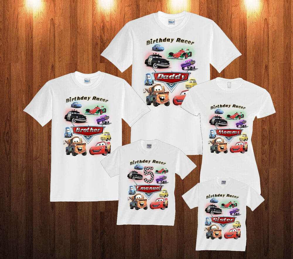 Cars birthday t shirt lightning mcqueen personalized for Custom t shirts and hoodies