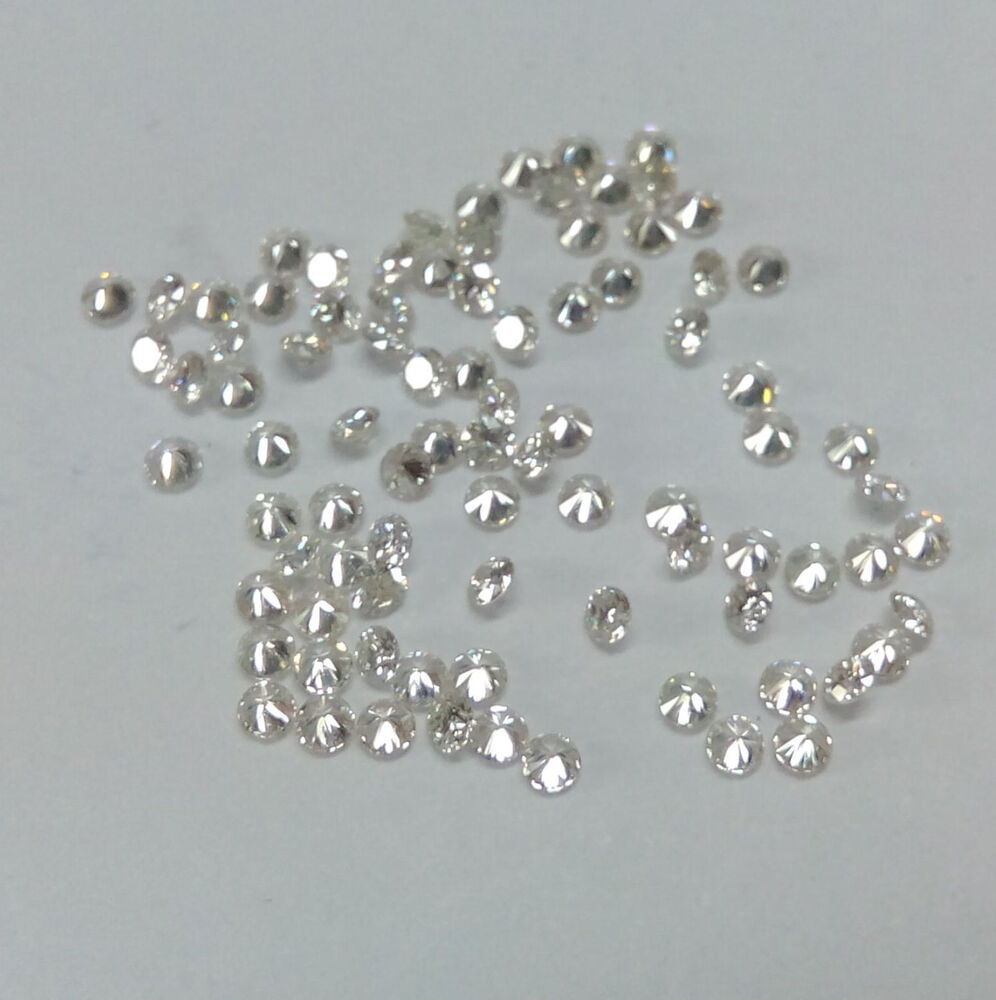 0.90mm to 3mm Natural White Diamond Round IJ Color VS ...