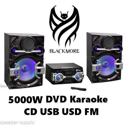 Blackmore 5000w Home Stereo Audio Video System Dvd Karaoke