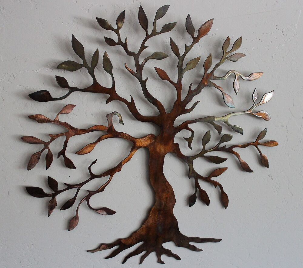Olive tree tree of life metal wall art decor small for Small wall art decor