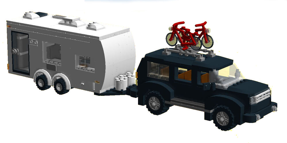 lego instructions to build a camper trailer suv nissan pathfinder no bricks ebay. Black Bedroom Furniture Sets. Home Design Ideas