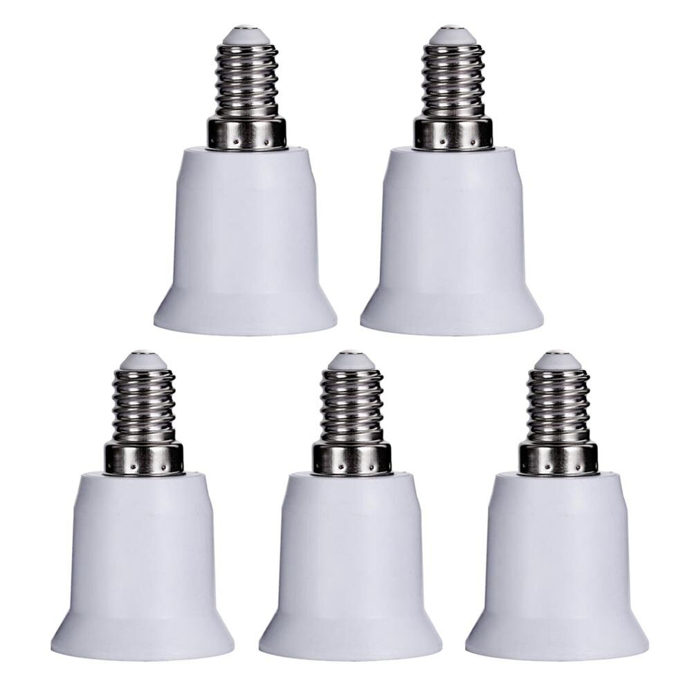 5x lampen sockel adapter e14 auf e27 fassung stecker gl hbirne konverter lampe ebay. Black Bedroom Furniture Sets. Home Design Ideas
