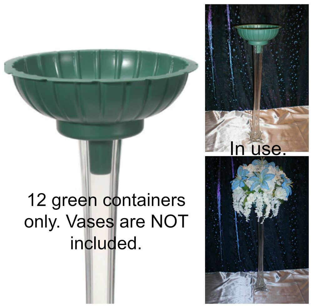 Green tower vase flower arraignment containers fit most