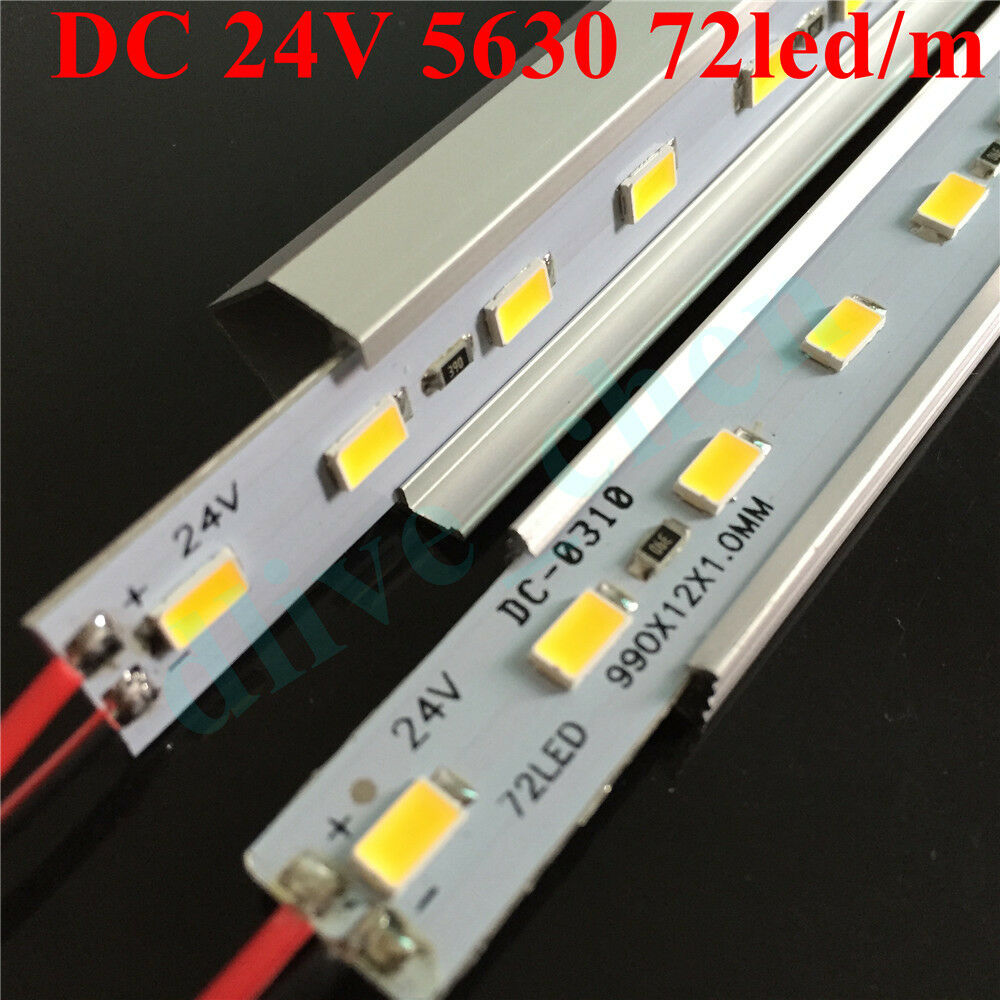 dc 24v 5630 led strip light rigid bar u v aluminum case shell 100cm 50cm 25cm ebay. Black Bedroom Furniture Sets. Home Design Ideas