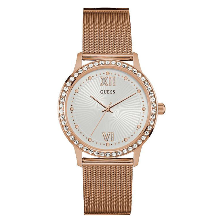 new guess watch for women rose gold tone mesh stainless