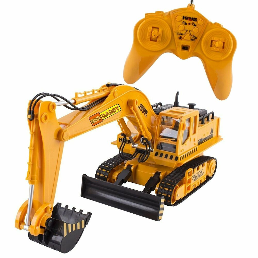 Remote Control Construction Toys : Big daddy full functional excavator electric rc remote