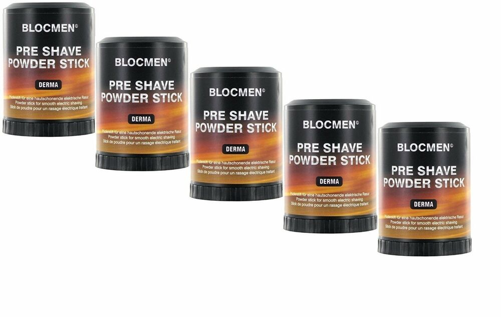 5 X Bloc Men Pre Shave Powder Stick 2 1oz Derma 3 5oz