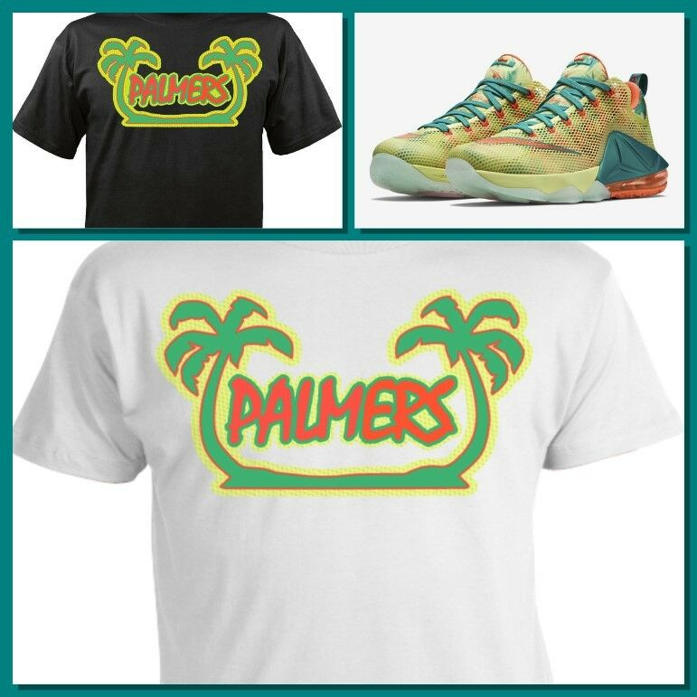 53e7618fa19ea Details about EXCLUSIVE TEE SHIRT TO MATCH NIKE LEBRON 12 PALMERS!