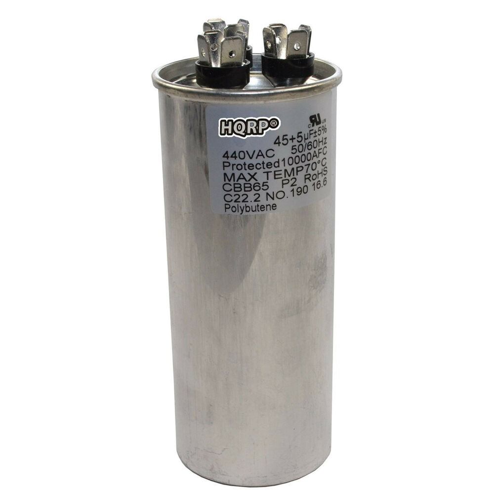 45uf 5uf dual run capacitor cbb65 ac electric motor start