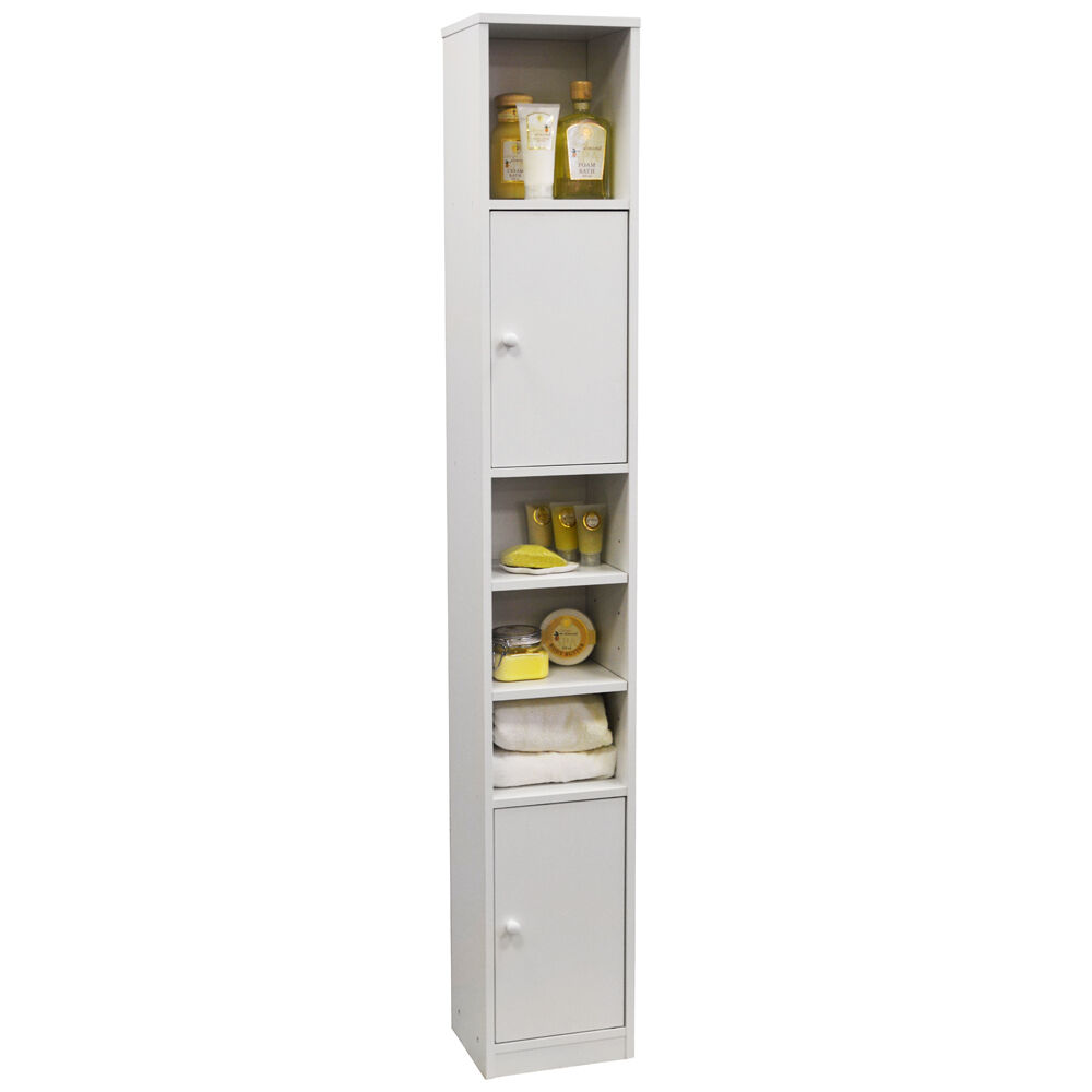 Jamerson Tall White Bathroom Storage Cabinet St0050 Ebay