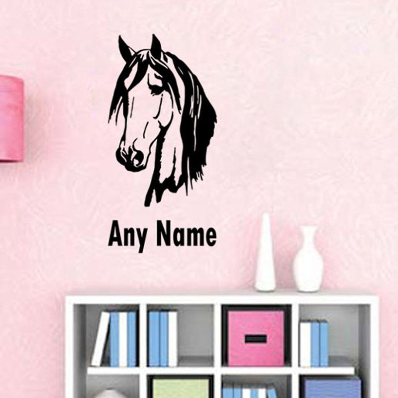 Personalized Horse Head Wall Sticker Home Decor Custom