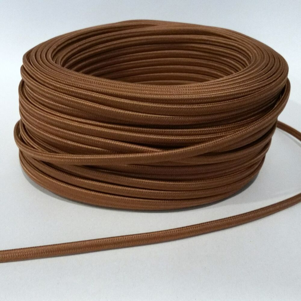 Vintage Lighting Cloth Covered Wiring Cognac Flat Wire Antique Lamp Cord Ebay