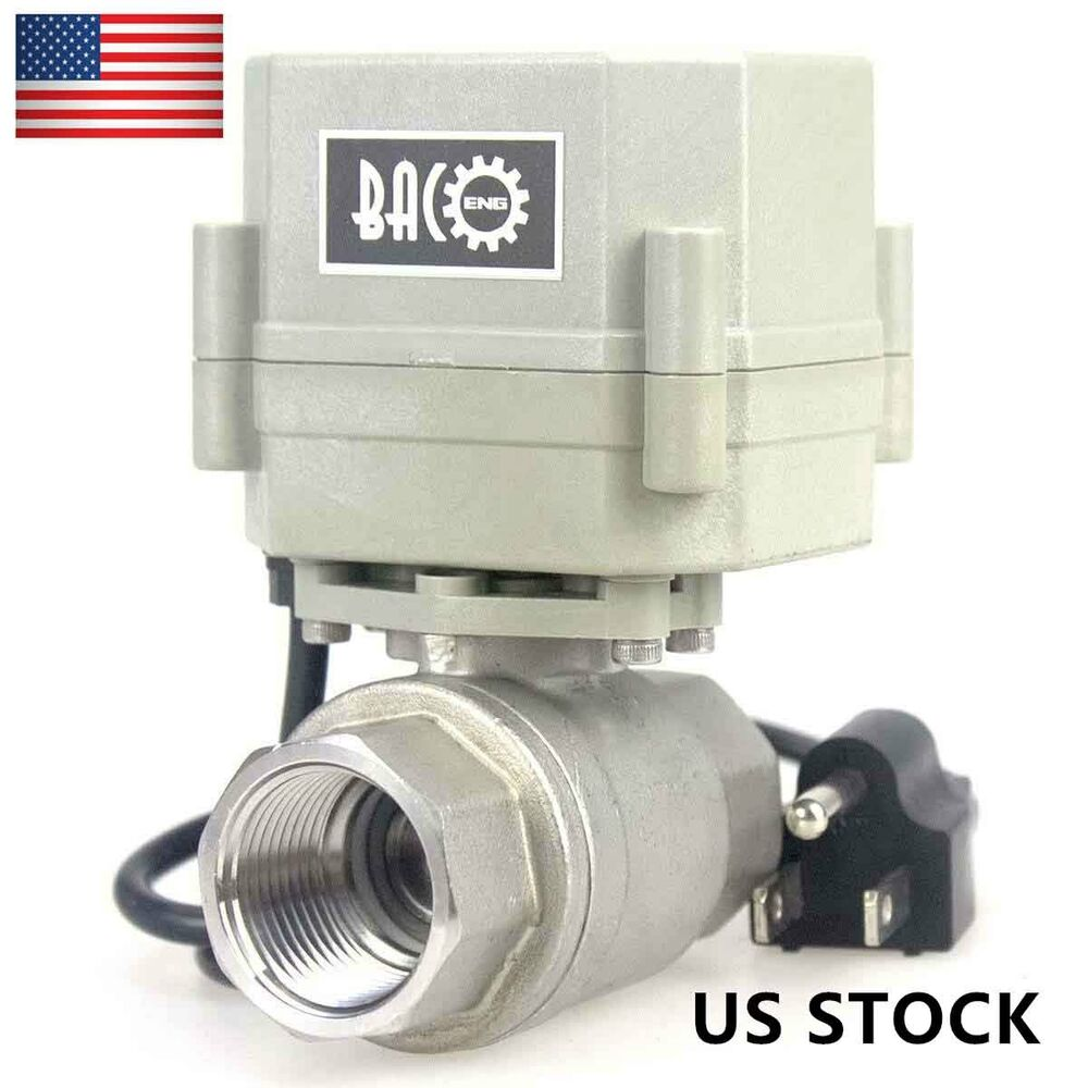 1 2 3 4 1 motorized ball valve 2 way 3 way ac110v