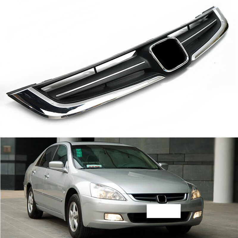 Abs Chrome Front Grille Grill Mesh For Honda Accord 7th