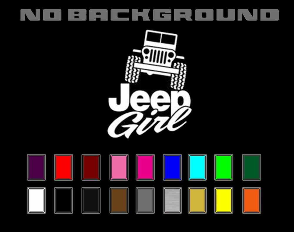 Jeep Girl Wrangler Cj Yj Tj Jk Silhouette Decal Vinyl