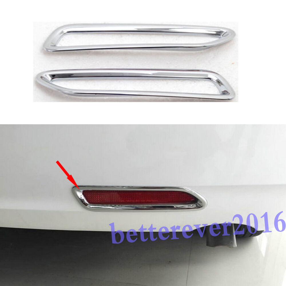 2pcs rear bumper reflector foglight cover trim for 2011. Black Bedroom Furniture Sets. Home Design Ideas