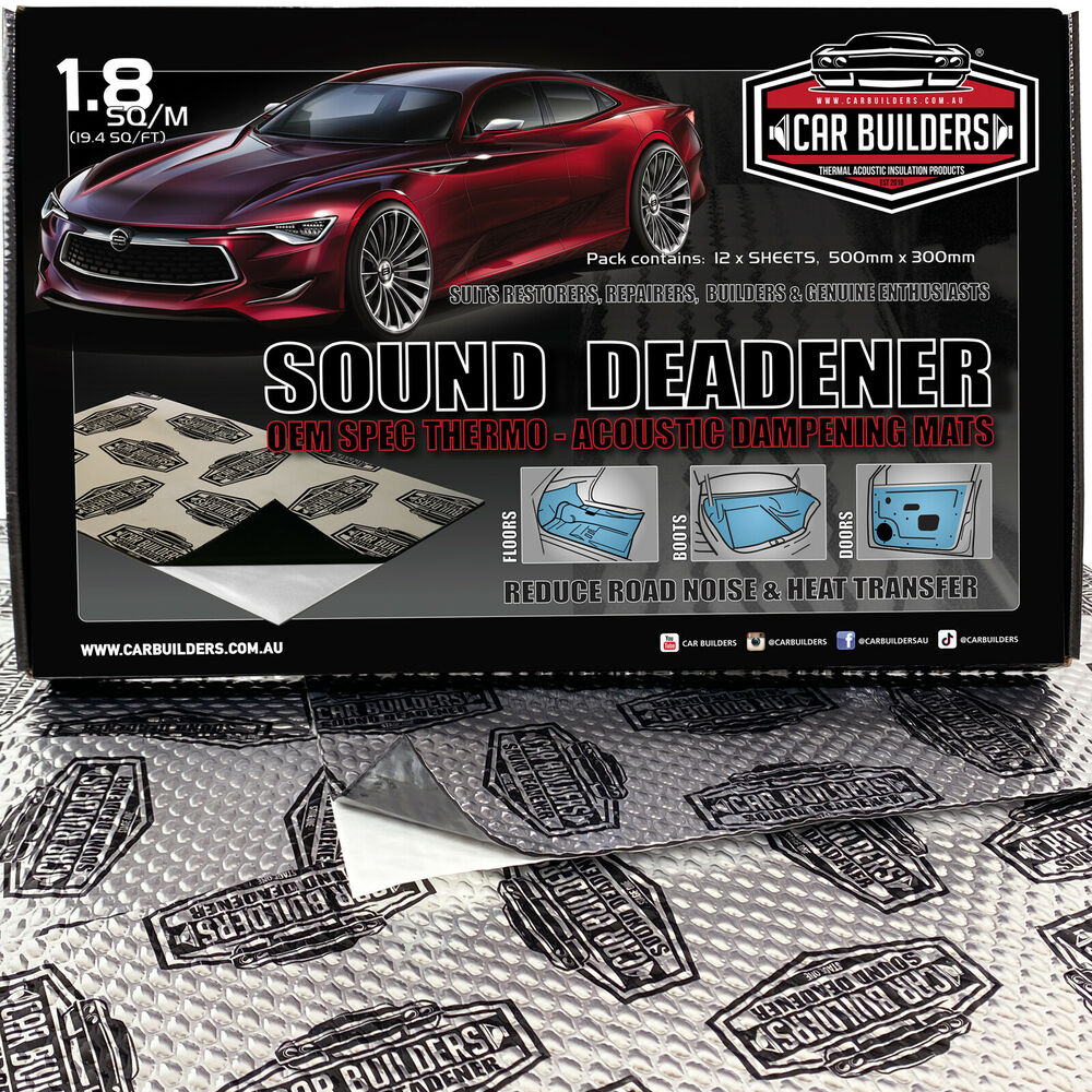 Car Soundproofing Kits : Sq f car sound deadener silver insulation dampening