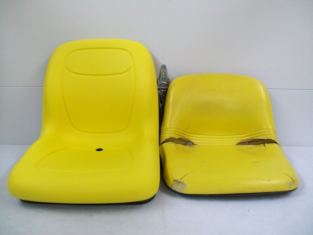 John Deere Riding Mower Seats : New yellow high back seat for john deere lawn mower models