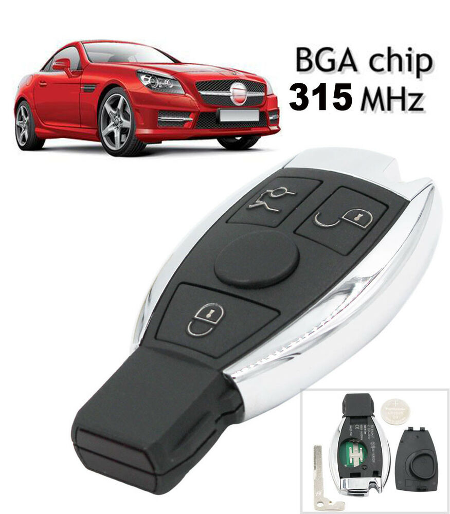 Keyless remote key fob 3 button for mercedes benz bga for Mercedes benz key fob