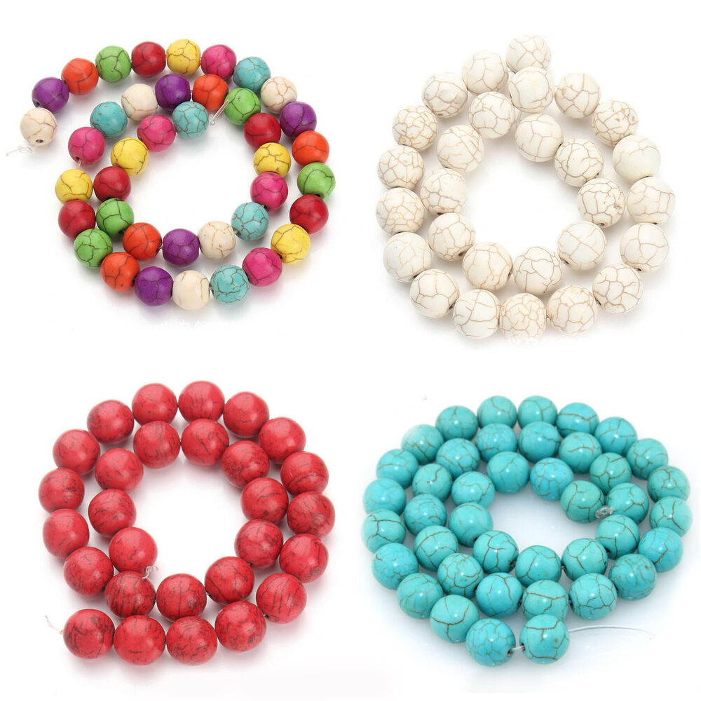 wholesale turquoise gemstone round loose spacer beads