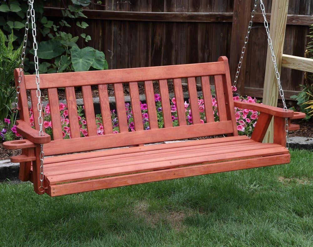 QUICK SHIP-Amish Heavy Duty 800 Lb Mission 5ft Porch Swing