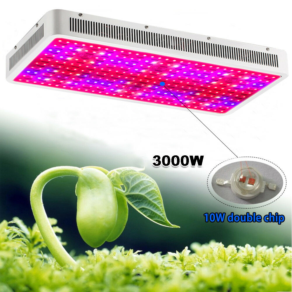 1200W 2000W LED Grow Light Panel Lamp For Hydroponic Plant