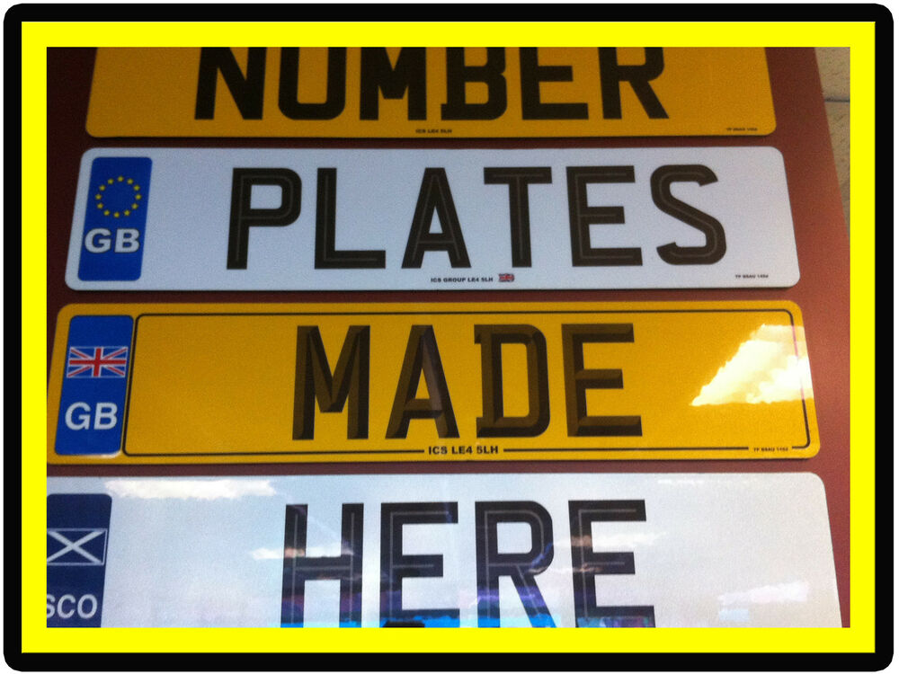 Custom Car Number Plates Uk