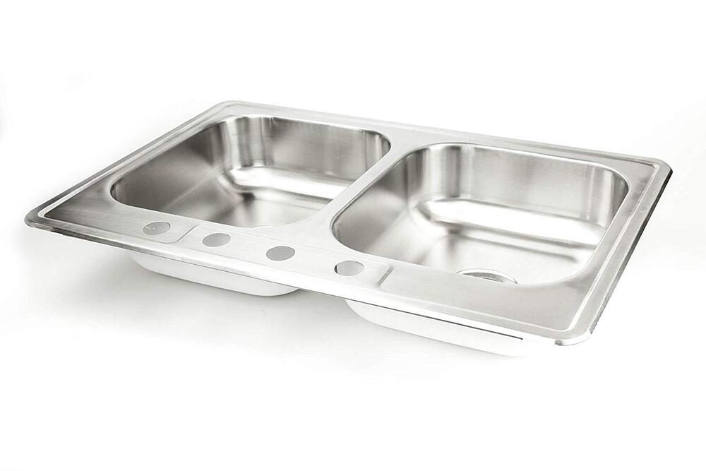 New Stainless Steel Kitchen Sink Double Bowl 33\