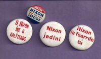 1970's  NIXON Campaign Buttons - Lot of 4 pins