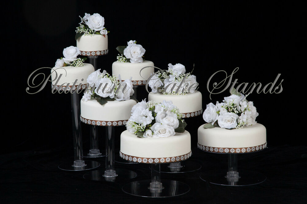 Clear Cascade Cake Stand