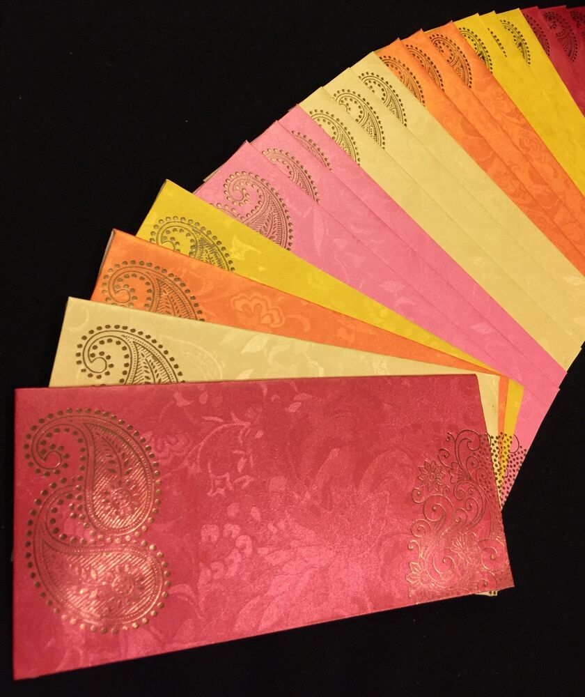 Wedding Gift Envelope India : ... Salami Shagun Money Gift Envelopes-Indian Wedding Accessory eBay