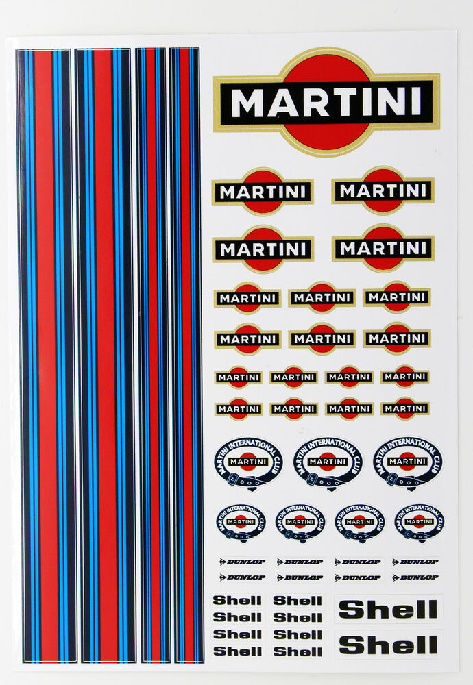rc martini stickers decals 1 18 scale losi mini xray hpi. Black Bedroom Furniture Sets. Home Design Ideas