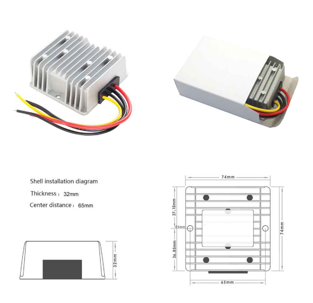 24v to 12v 20a dc dc step down converter reducer for Waterproof dc motor 12v
