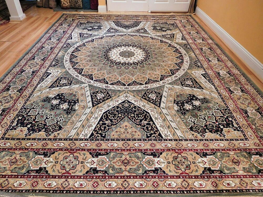Silk Persian Rugs 8x10 Qum Hand Knotted Fringes 5x8