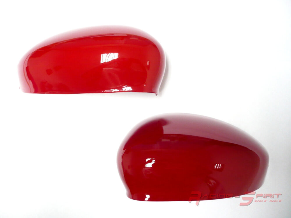 Unique Glossy Red Fiber Side Mirror Cover Cap For 12 16