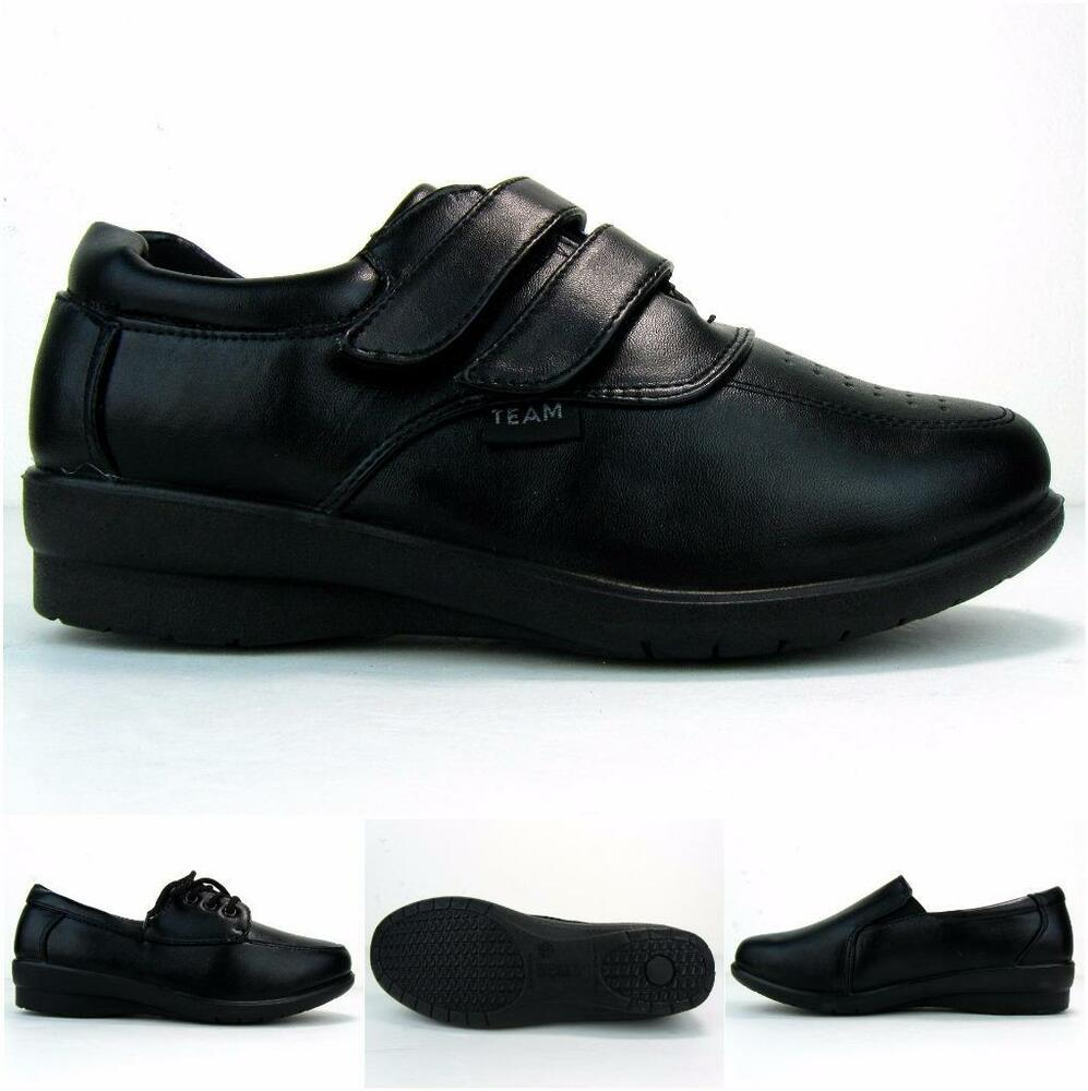 s work shoes non slip resistant walking standing pu