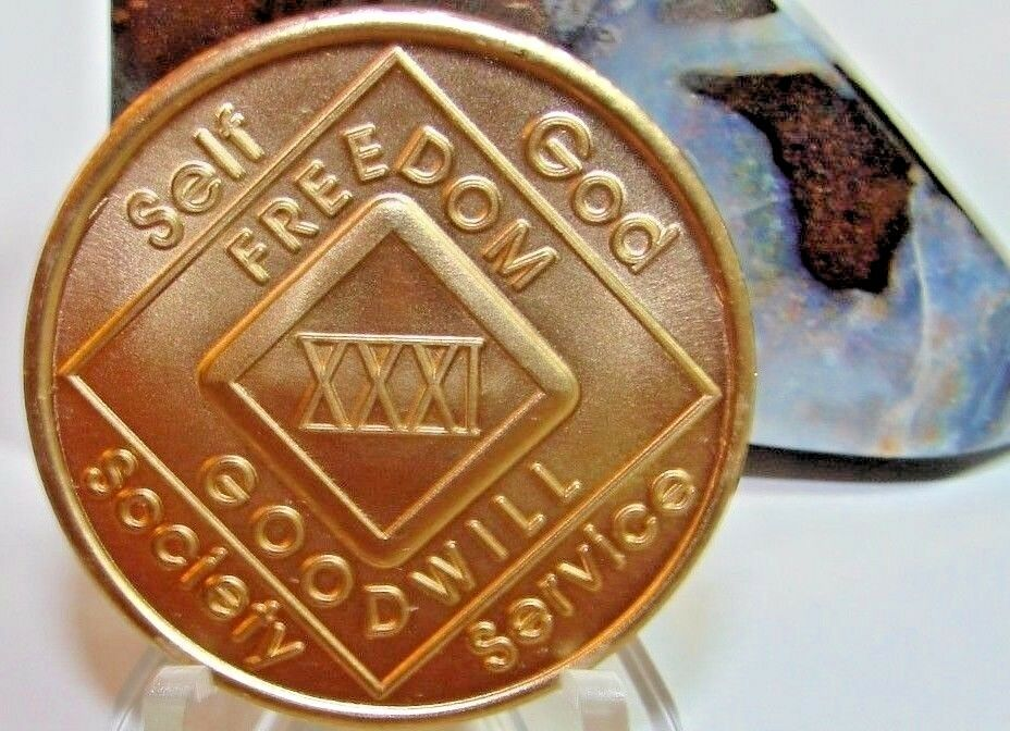 Narcotics Anonymous Na 31 Year Clean Bronze Medallion