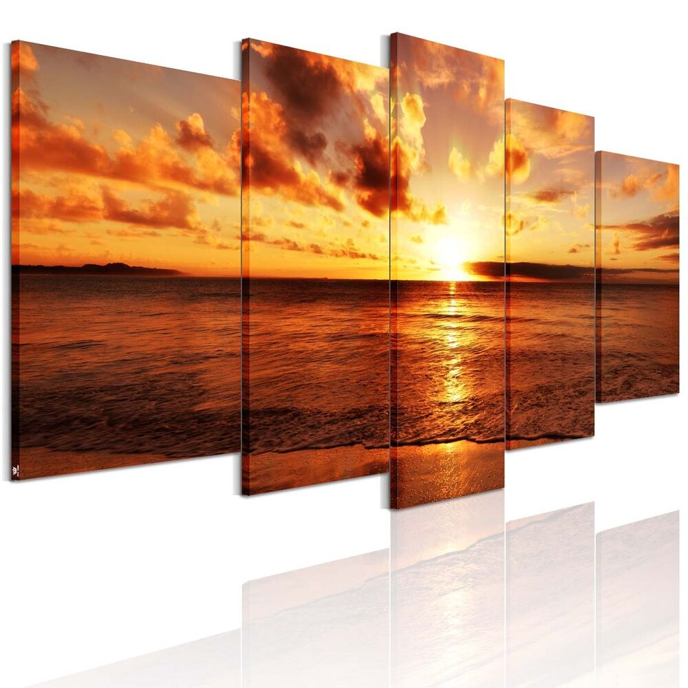 Ready to hang canvas print decor wall art painting sea for Wall artwork paintings