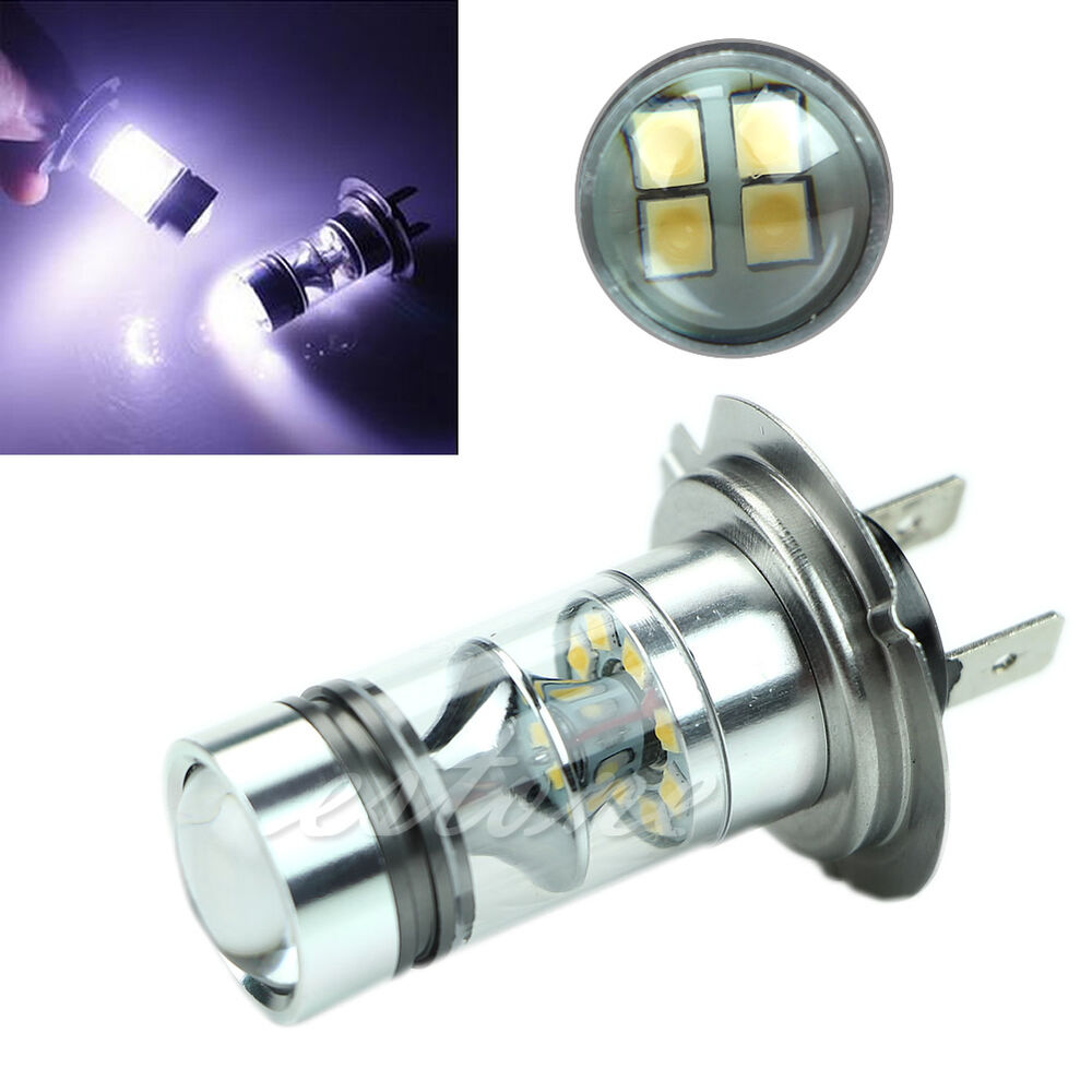 h7 6000k 100w led 20 smd driving fog ampoules drl lumi re hid blanc ebay. Black Bedroom Furniture Sets. Home Design Ideas