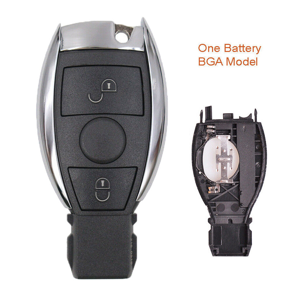 New smart replace remote car key shell case fob 2 button for Replacement key mercedes benz