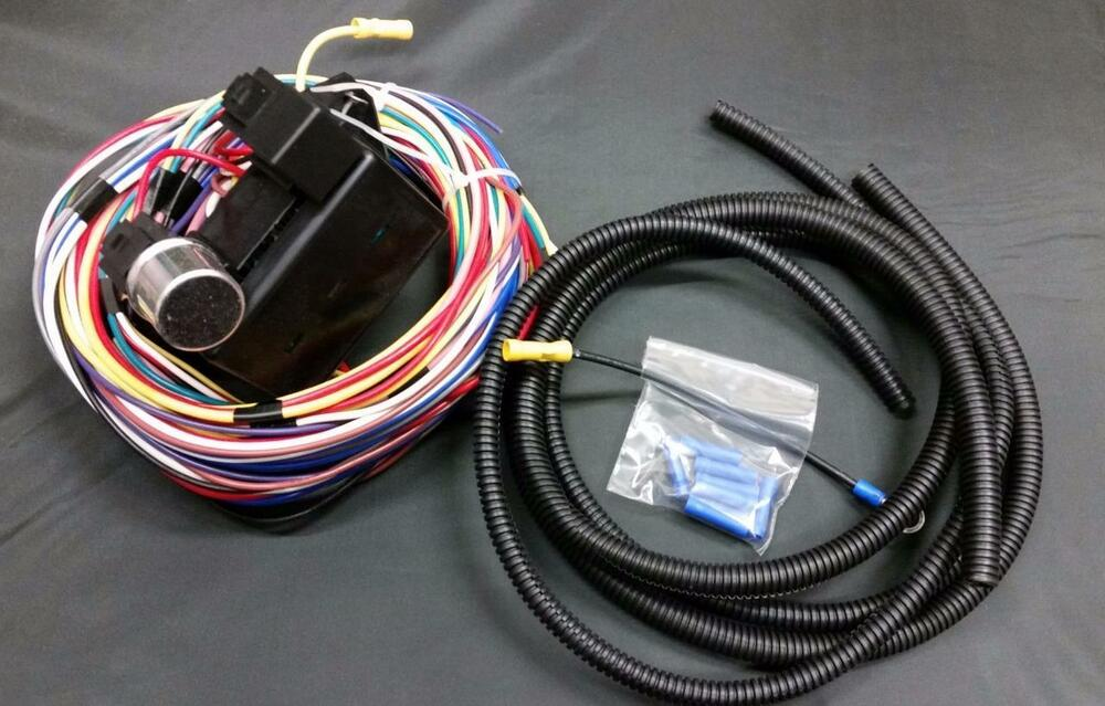 Universal circuit street rod wiring wire harness kit