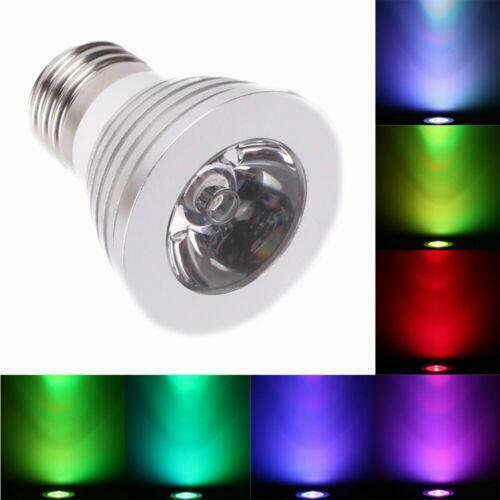 e27 16 color magic changing 5 model 3w rgb led light bulb lamp ir remote cont. Black Bedroom Furniture Sets. Home Design Ideas
